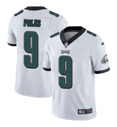 Men's Nike Philadelphia Eagles #9 Nick Foles White Vapor Untouchable Limited Player NFL Jersey