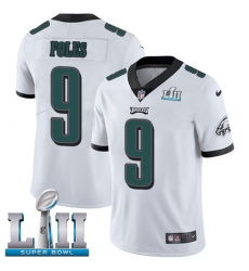 Youth Nike Philadelphia Eagles #9 Nick Foles White Vapor Untouchable Limited Player Super Bowl LII NFL Jersey