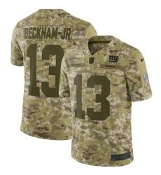 Men's Nike New York Giants #13 Odell Beckham Jr Limited Camo 2018 Salute to Service NFL Jersey