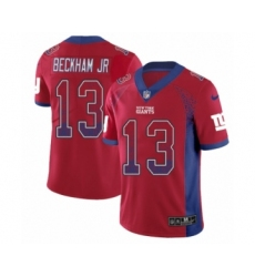 Men's Nike New York Giants #13 Odell Beckham Jr Limited Red Rush Drift Fashion NFL Jersey