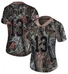 Women's Nike New York Giants #13 Odell Beckham Jr Limited Camo Rush Realtree NFL Jersey