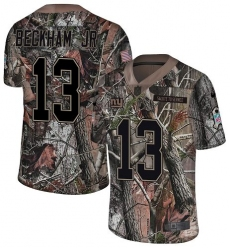 Youth Nike New York Giants #13 Odell Beckham Jr Limited Camo Rush Realtree NFL Jersey