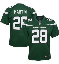 Youth New York Jets #28 Curtis Martin Nike  Retired Player Game Jersey - Green