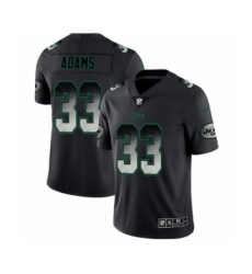Men New York Jets #33 Jamal Adams Black Smoke Fashion Limited Jersey