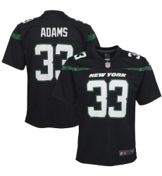 Youth New York Jets #33 Jamal Adams  Nike Game Jersey - Black