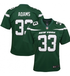 Youth New York Jets #33 Jamal Adams  Nike Player Game Jersey - Green