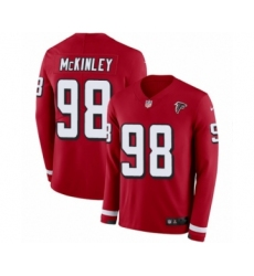 Men's Nike Atlanta Falcons #98 Takkarist McKinley Limited Red Therma Long Sleeve NFL Jersey