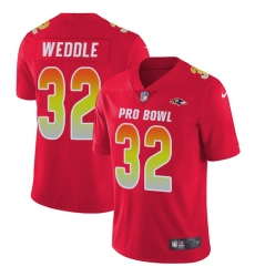 Men's Nike Baltimore Ravens #32 Eric Weddle Limited Red 2018 Pro Bowl NFL Jersey