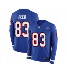 Men's Nike Buffalo Bills #83 Andre Reed Limited Royal Blue Therma Long Sleeve NFL Jersey