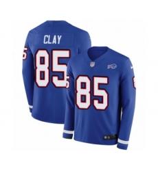 Men's Nike Buffalo Bills #85 Charles Clay Limited Royal Blue Therma Long Sleeve NFL Jersey