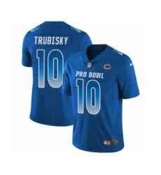 Youth Chicago Bears #10 Mitchell Trubisky Limited Royal Blue NFC 2019 Pro Bowl Football Jersey
