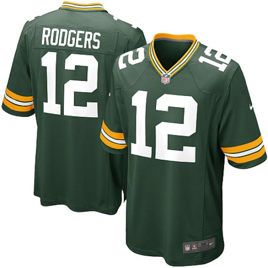 Men's Nike Green Bay Packers #12 Aaron Rodgers Game Green Team Color NFL Jersey