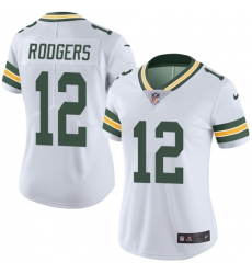 Women's Nike Green Bay Packers #12 Aaron Rodgers White Vapor Untouchable Limited Player NFL Jersey