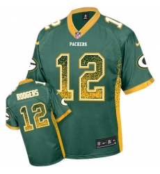 Youth Nike Green Bay Packers #12 Aaron Rodgers Elite Green Drift Fashion NFL Jersey