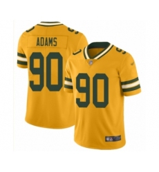 Men's Green Bay Packers #90 Montravius Adams Limited Gold Inverted Legend Football Jersey