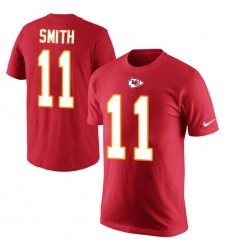 NFL Men's Nike Kansas City Chiefs #11 Alex Smith Red Rush Pride Name & Number T-Shirt