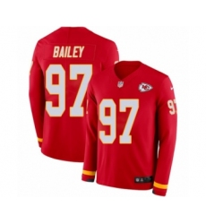 Men's Nike Kansas City Chiefs #97 Allen Bailey Limited Red Therma Long Sleeve NFL Jersey