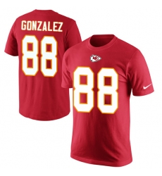 NFL Men's Nike Kansas City Chiefs #88 Tony Gonzalez Red Rush Pride Name & Number T-Shirt